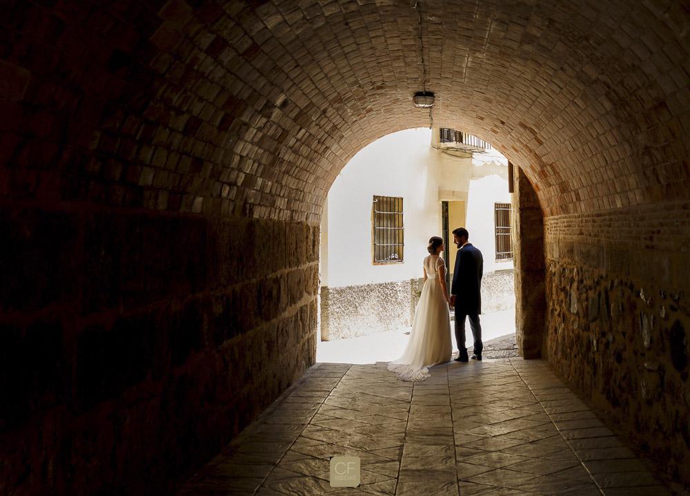 Fotografía de Mamen y José tras su boda. CF Bodas.